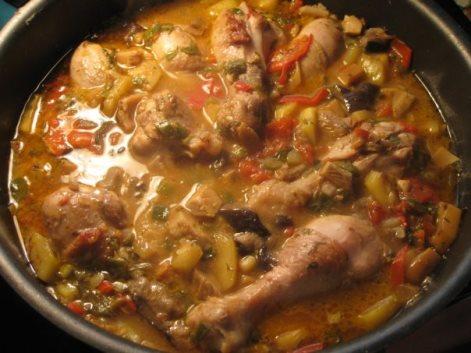 Рагу из цыплят, фасоль, картофель, капуста. Овощное рагу с курицей.