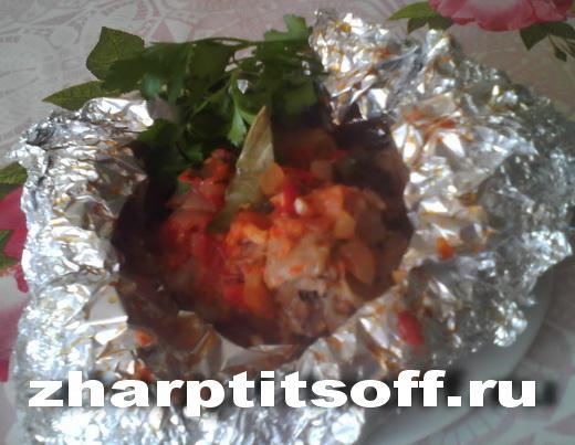 Кролик порционный, корешки, томатная паста