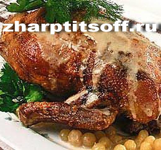 Утка луковички, специи, бульон куриный