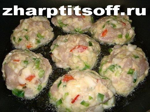Куриные котлеты сырно-овощные2