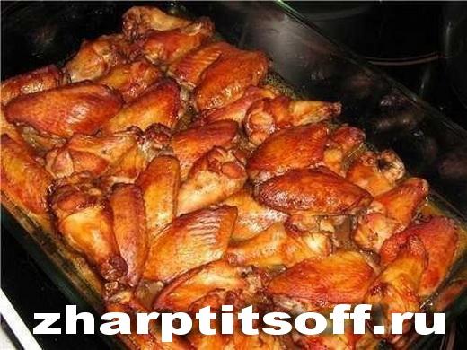 Куриные крылья и голень после чайного маринада