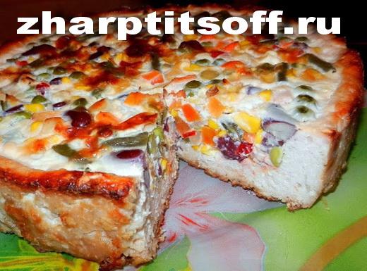 Куриный пирог из овсянки и овощей