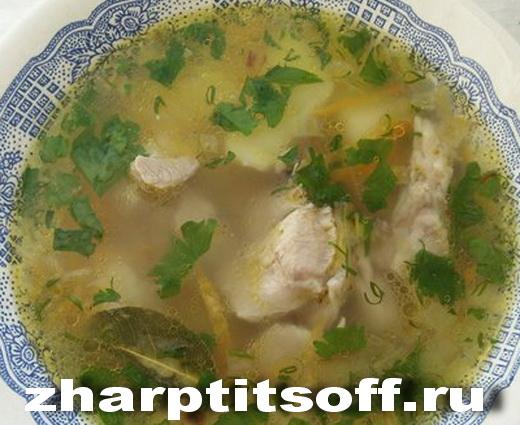 Суп из индюшки, овощей, зелени, специй