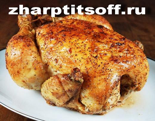 Курица, в рукаве запеченная в майонезе, горчице