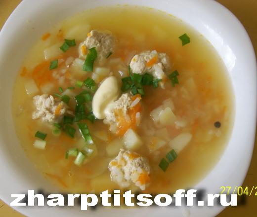 Суп из куриных фрикаделек, овощей «Нежность»