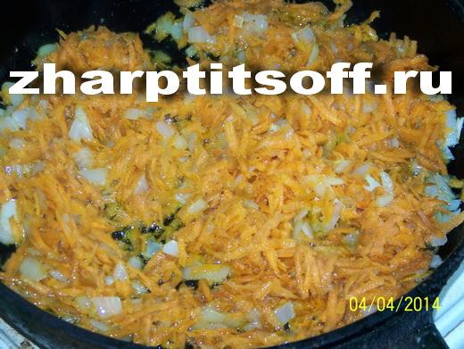 5жарим морковьс луком