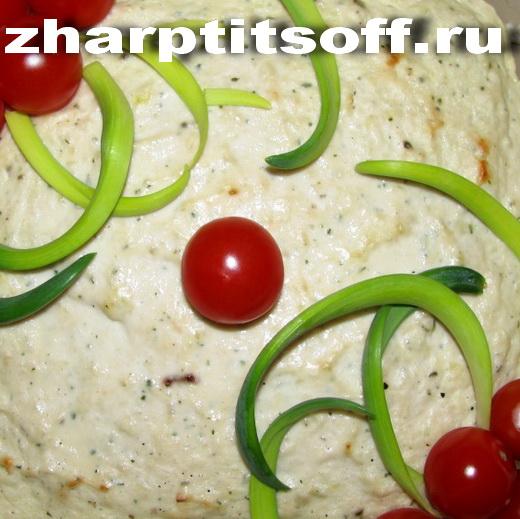 Куриное сливочное суфле, запечённое в духовке
