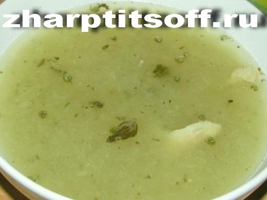 Суп-пюре куриный лук, спаржа. Суп диетический с курицей, спаржей.