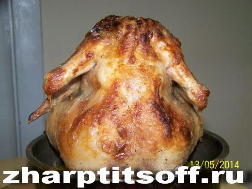 Курица Наездник жареная, банка в духовке