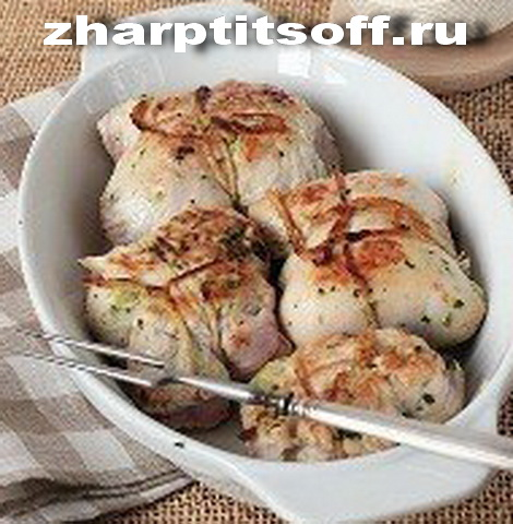 Рулеты индюшачьи со шпинатом, орехом кедра