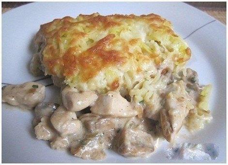 Курица «Картофельная» с грибами
