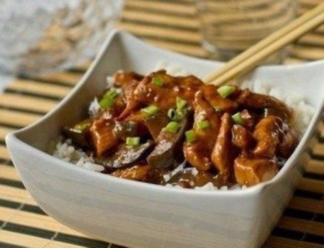 Курица «Китайская» с баклажанами