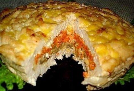 Пирог «Куриный» с грибами, курицей