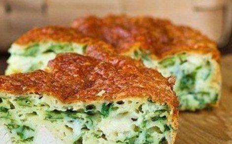 Пирог «Зелено - луковый» с мясом птицы