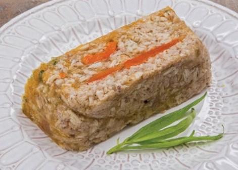 Заливной кролик перец, тархун. Заливное из диетического мяса.