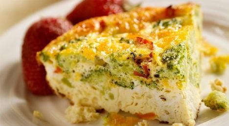 Сырный омлет курица цуккини, Фриттата. Вкусный завтрак из Италии.