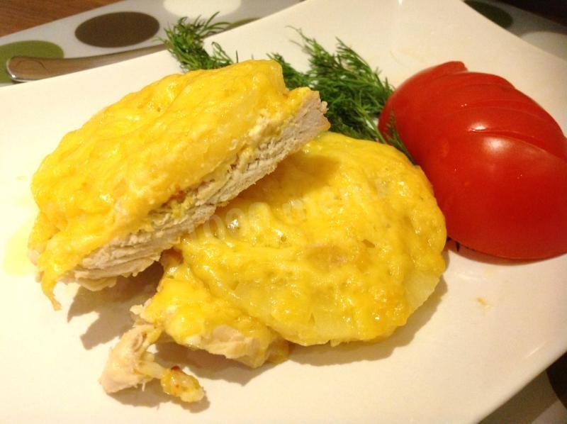 Индейка ананасы, сыр, специи. Запекаем отбивные индейки в духовке.